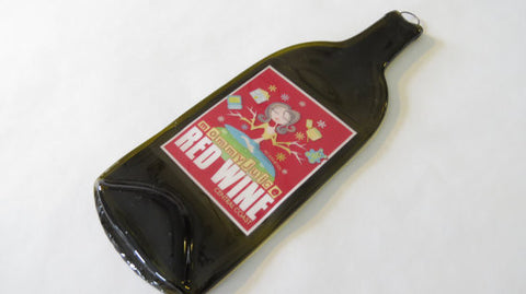 Wine Bottle Cheese Tray - Mommy Juice Red Wine - Bottle Crafters - 1