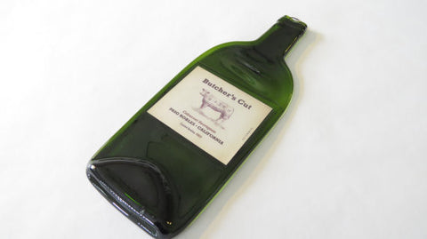 Wine Bottle Cheese Platter Butchers Cut - Bottle Crafters - 1
