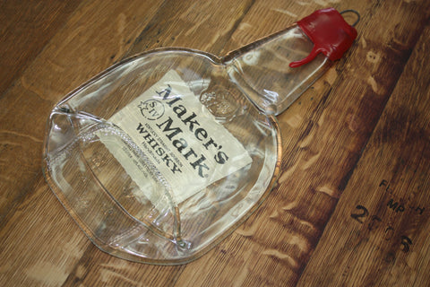 Melted Liquor Bottles - Makers Mark Flat Bottle - Bottle Crafters - 1