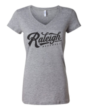 Load image into Gallery viewer, Raleigh Script Ladies V-Neck