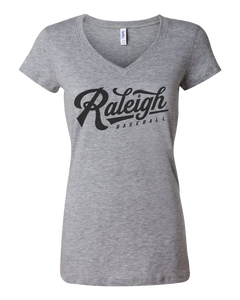Raleigh Script Ladies V-Neck