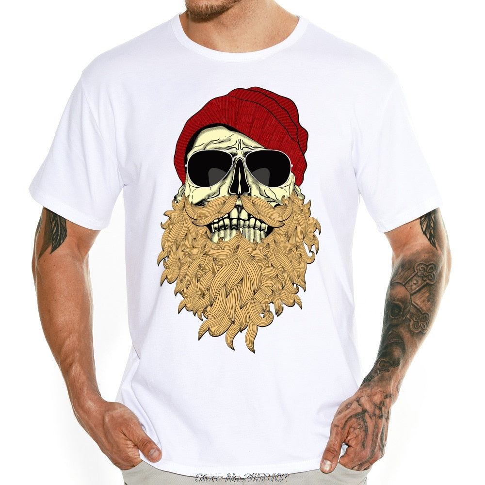 T-shirt crâne barbu
