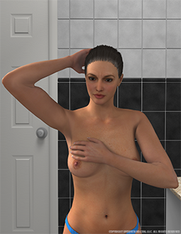 Breast Self Exam Manual Inspection Image