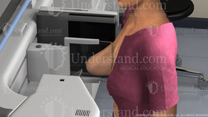 Woman Receiving Mammogram View 2 Image