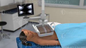 Woman Receiving Ultrasound Image