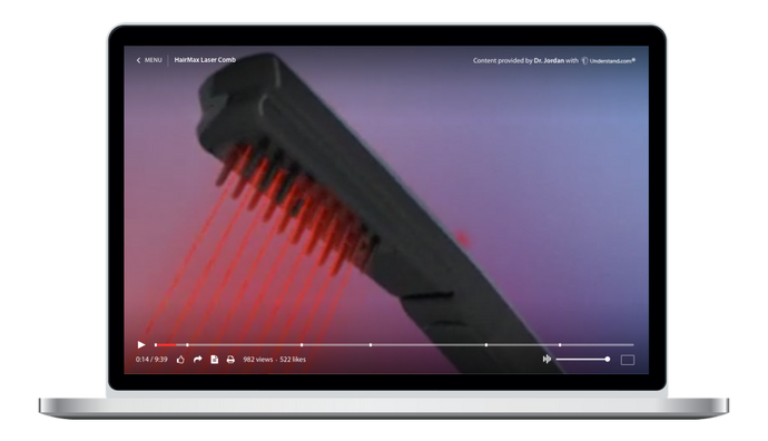 HairMax LaserComb Animation