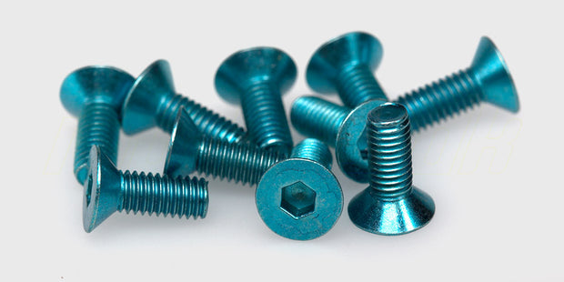 Countersunk Hex screw M3x8 (blue)