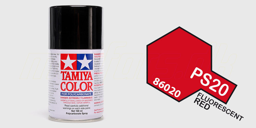 Tamiya Color PS-20 Fluorescent Red