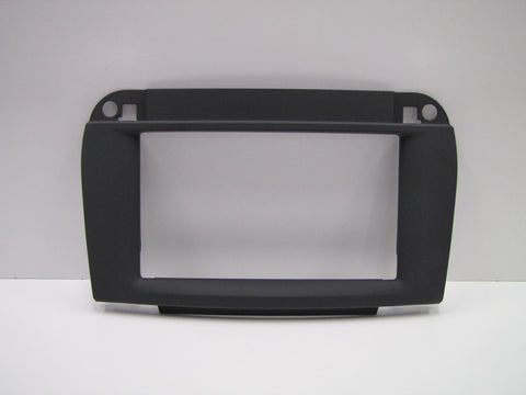 2003-2006 Mercedes-Benz S-Class W220 Rubber Touch Black Double DIN 2-DIN Dash Installation Kit