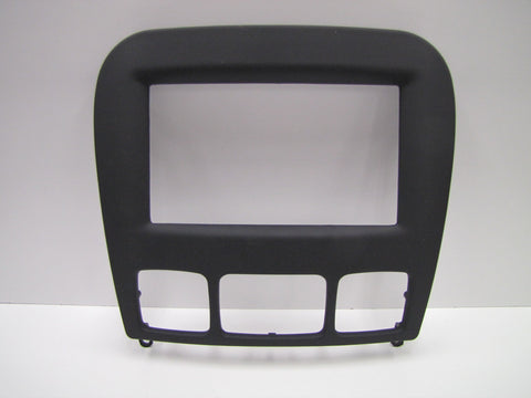 2000-2002 Mercedes-Benz S-Class W220 Rubber Touch Black Double DIN 2-DIN Dash Installation Kit