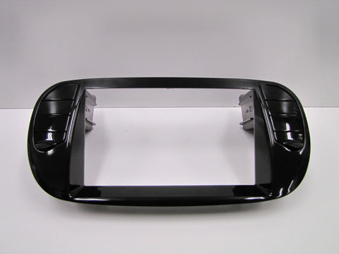 Fiat 500 Piano Black Finish Double DIN 2-DIN Dash Installation Kit