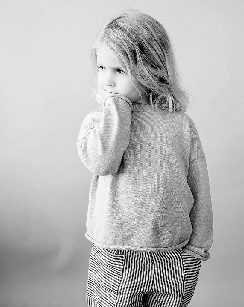 organic cotton children´s sweater. Soft and comfortable from As We Grow
