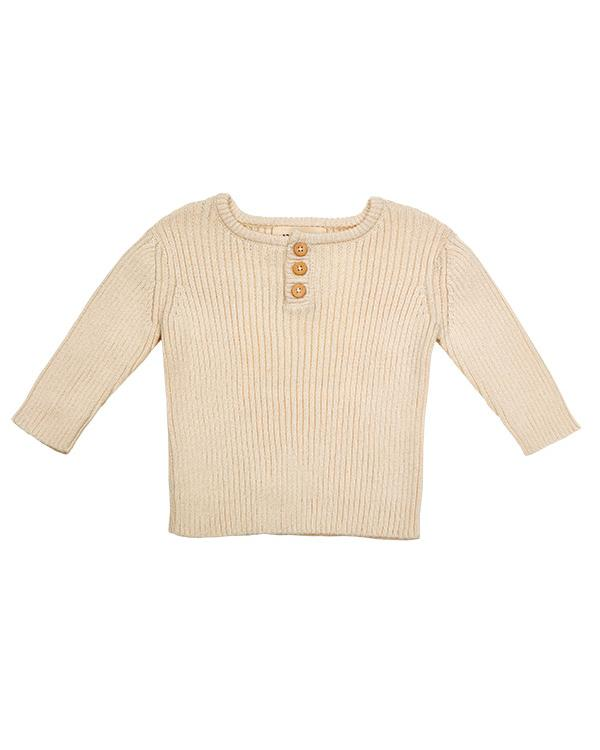 Organic cotton sweater in cream, super classy, ethical fashion piece.