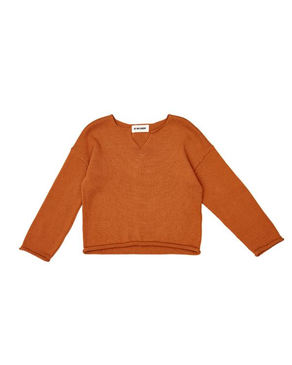 Icelandic design viking sweater in saffron.