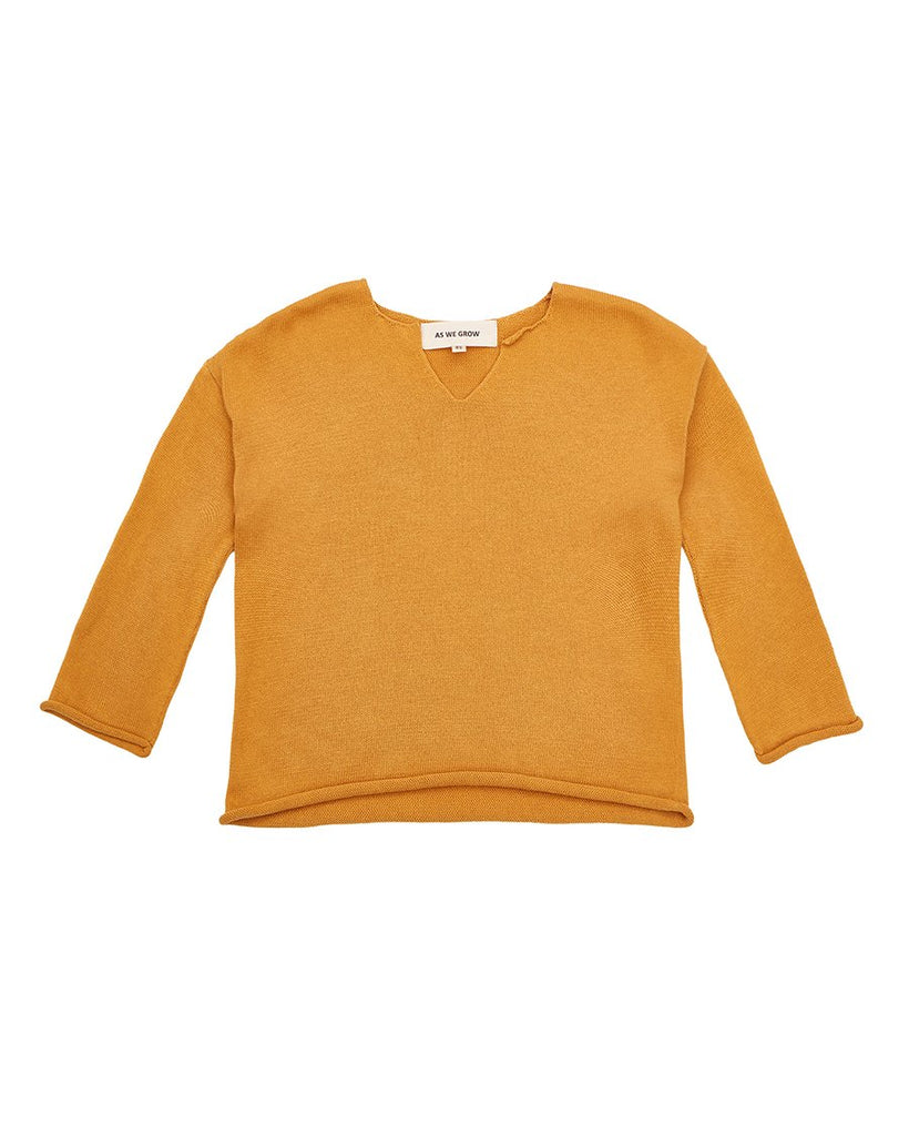 our classic Icelandic design viking sweater in pumpkin colour.