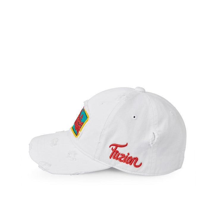 Fuzion Your Problem Edition White Distressed Ballcap