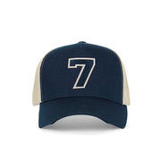 #7 Navy Trucker Hat - Fuzion caps