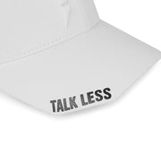 Talk Less..Do More White Baseball Cap - Fuzion caps