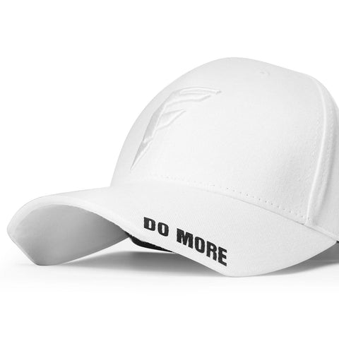 Talk Less..Do More White Baseball Cap