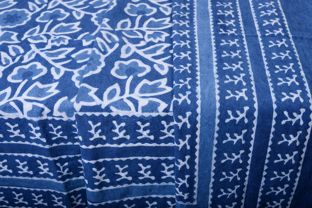 Indigo Floral Tablecloth