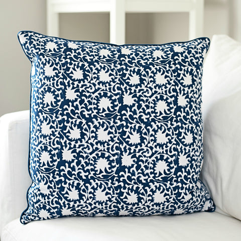 Karina Block Print Cushion (on sale)