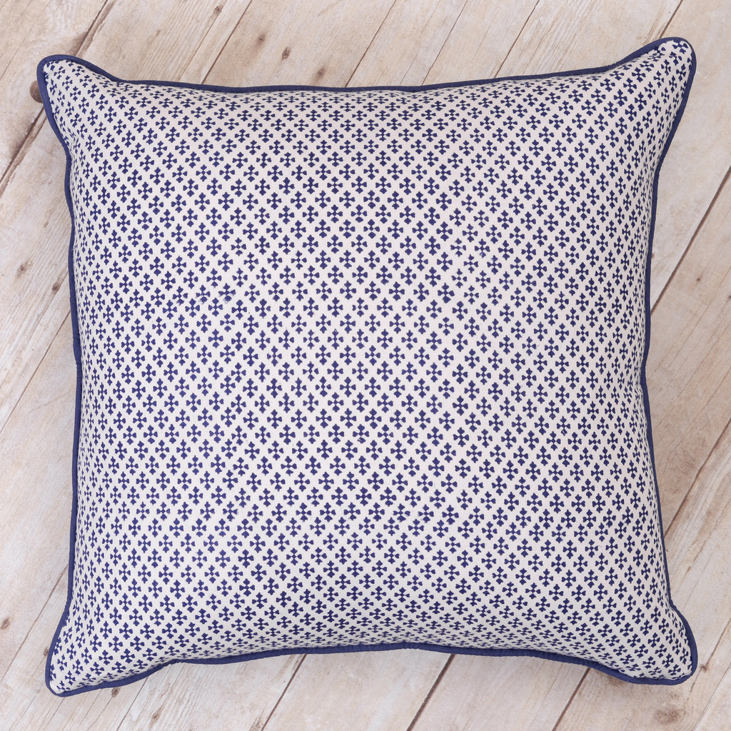 Shanti Block Print Cushion, Indigo