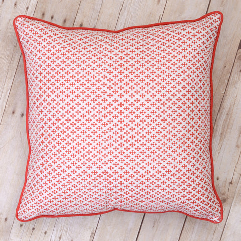Shanti Block Print Cushion, Paprika