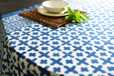 Indigo Cross Tablecloth