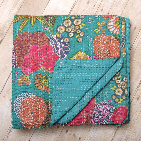 Tropical Kantha Quilt