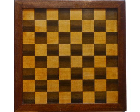 English Wooden Chess Board, circa 1920