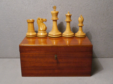 "Jaques Staunton ""4 inch"" Chess Set, 1890-1900"