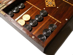 Fine Backgammon & Chess Board, 19th century