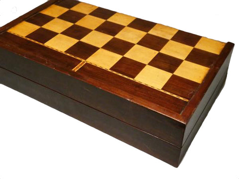Antique backgammon chess