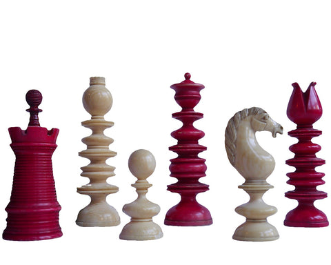 "Early ""Calvert"" Chess Set, circa 1800"