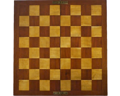 Good Antique Satin-Birch Chess Board