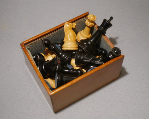 A Jaques Staunton Chess Set, circa 1925