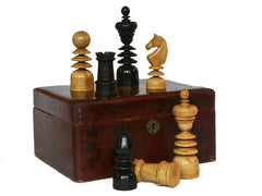 Antique St George Chess Set, 19th Century