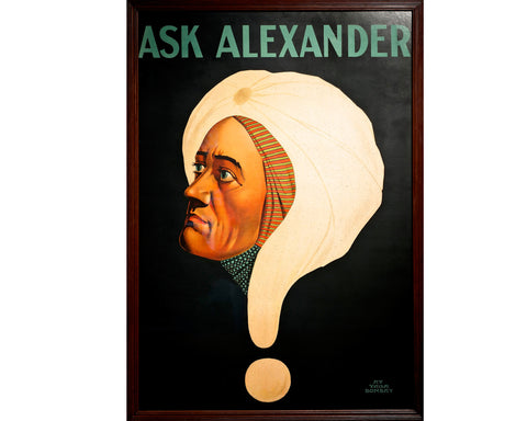 'Ask Alexander' Illusionist Poster, 1915