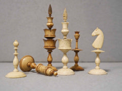 Biedermeier Bone Chess Set, circa 1830