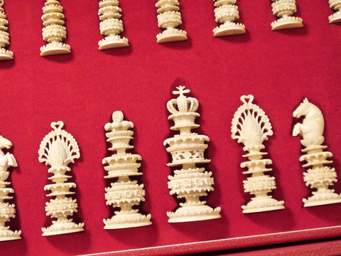 Fine Berhempore Chess Set, circa 1830