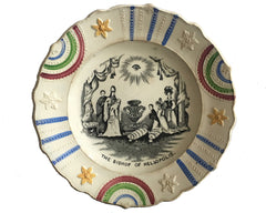 Commemorative Nursery Plate, circa 1840