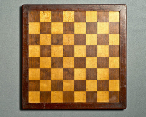 An English Mahogany Chess Board, circa 1900