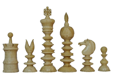 Antique Bone Chess Set