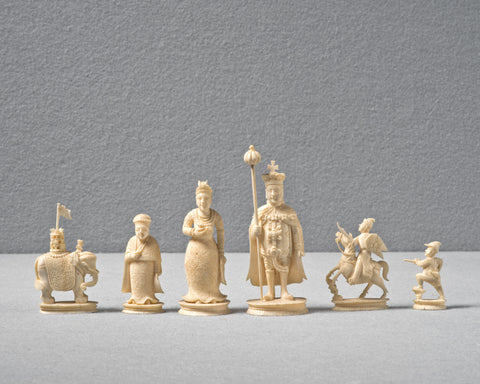 A Canton Export Ivory Chess Set, circa 1820