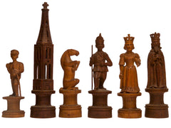 "Swiss ""Charlemagne"" Chess Set, 19th Century"