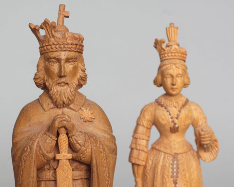 """Charlemagne"" Pearwood Part Chess Set"