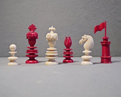 """Hastilow"" Chess Set, circa 1850"