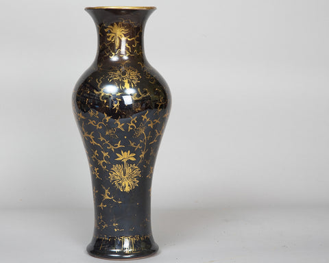 "A Chinese ""Black Mirror"" Vase, Late Qing"
