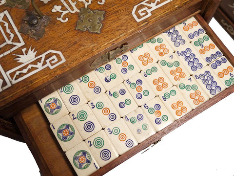 Chinese Export Mahjong Set, Shanghai, 1920s