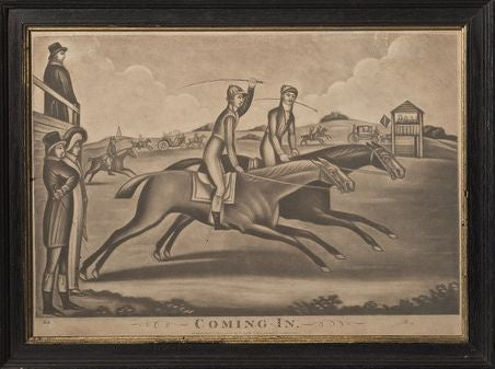 Coming In, Monochrome Racing Mezzotint, 1806